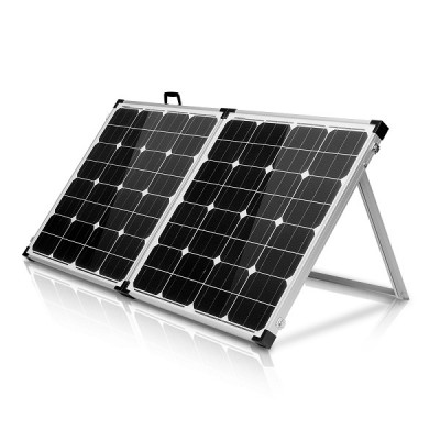 100 Watt foldable monocrystalline solar panel w/ handle and stand built in